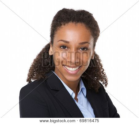 Confident Young Business Woman Smiling