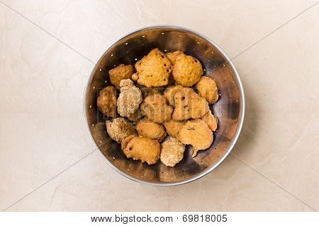 South Indian Savoury snack called shape Vada