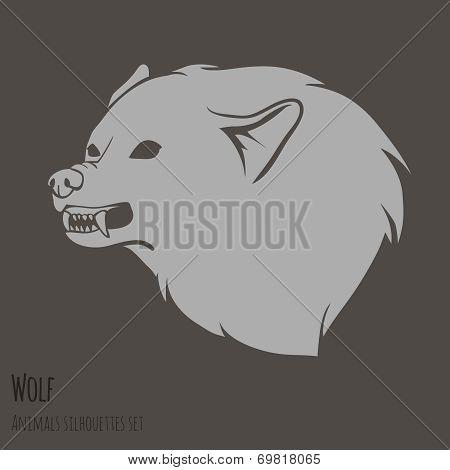 Grey Wolf Silhouette