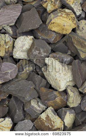 Crushed Stones Background