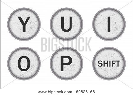 Typewriter Keys Yuiop