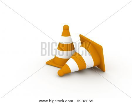 Two Orange Cones