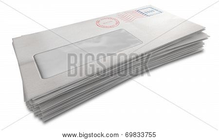 White Envelope Stack