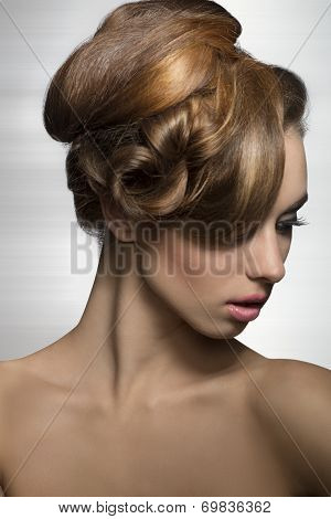 Woman With Elegant Stylish Hairdo