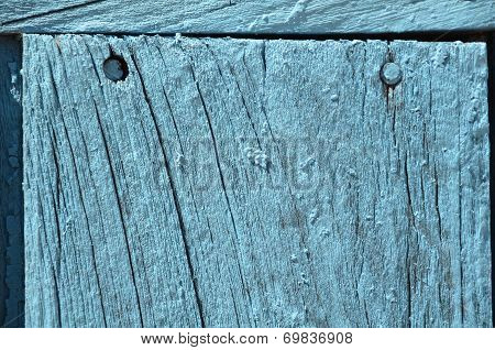 Old Grunge Weathered Blue Door Woodden Texture