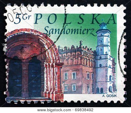 Postage Stamp Poland 2004 Sandomierz, Town