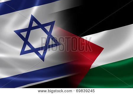 Merged Israeli And Palestinian Flag