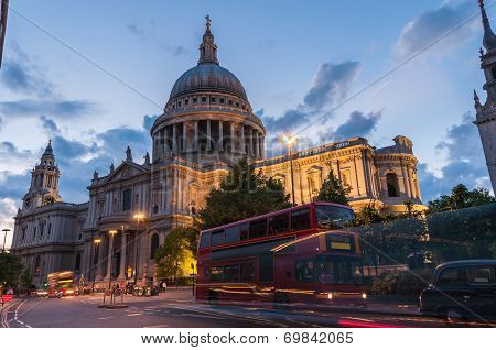 St Paul's Cathedral In London At Twilight