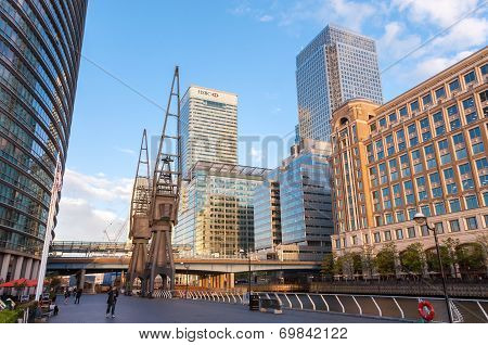 West India Quay And North Dock In London