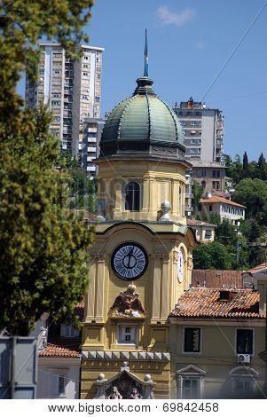 Rijeka,croatia Baroque City Tower
