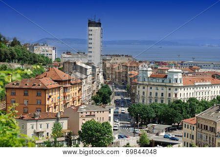 Tito's Square In Rijeka,croatia