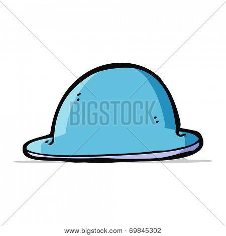 cartoon red bowler hat