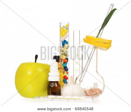 Test tubes with pills