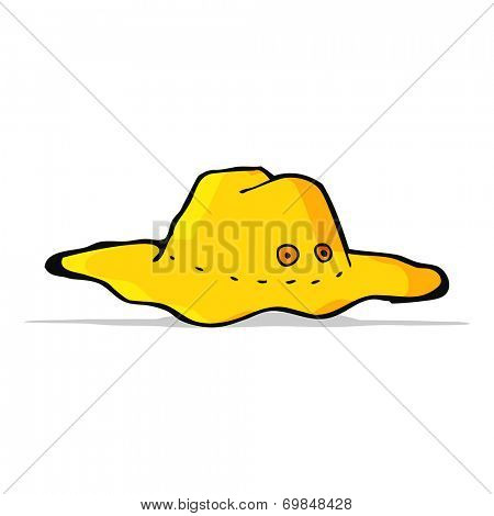cartoon old australian hat