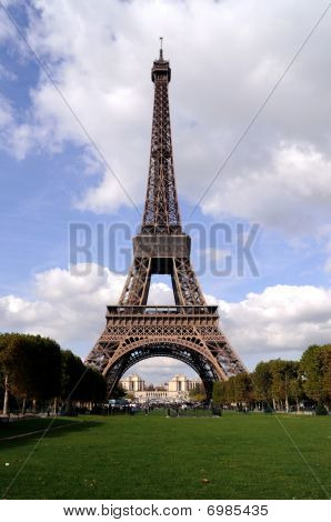 Eiffel Tower on a Sunny Day