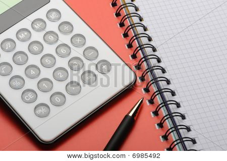 Writingbook And Pen And Calc_4