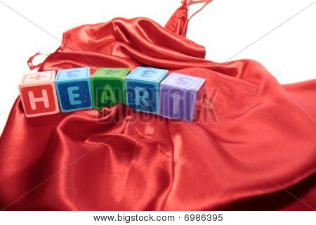 Heart Letters On Silk Night Dress