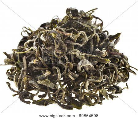 Wild Tree Purpla Tea ,Yunnan , YE Sheng Cha ,  isolated on white background
