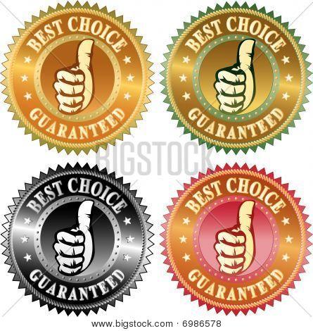 Melhor escolha polegar