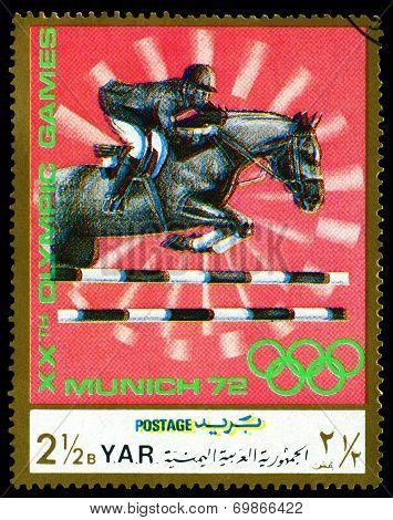 Vintage  Postage Stamp. Horseman.