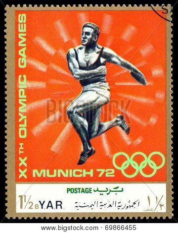 Vintage  Postage Stamp. Thrower.
