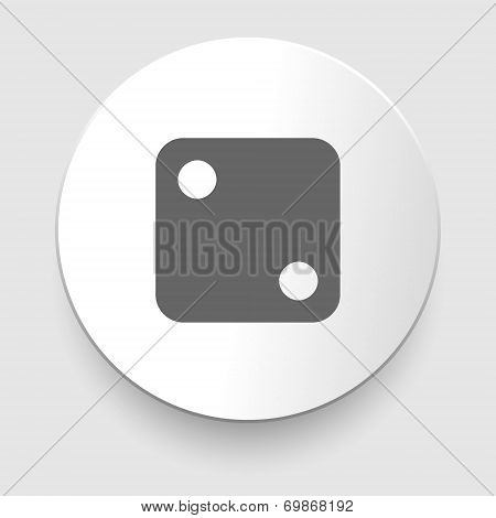 Vector illustration of one dices - side with 2