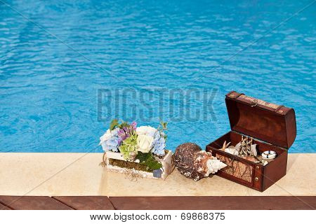 Treasure Chest Pool Flowers Snail
