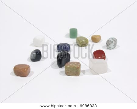 Assorted stone charms