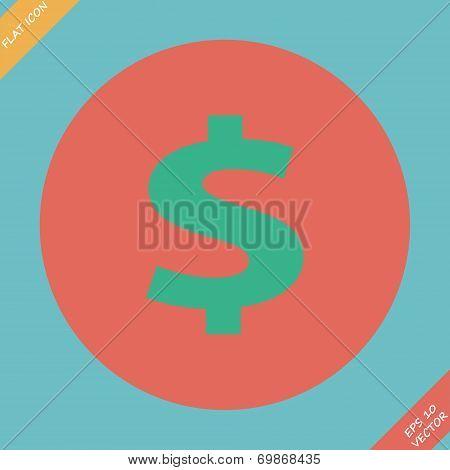 us dollar green circle web icon