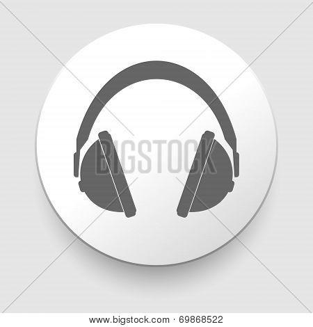 vector headphones icons