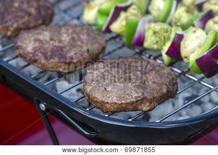 Burgers on BBQ