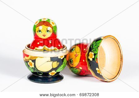 Isolated Russian Doll, Matryoshka