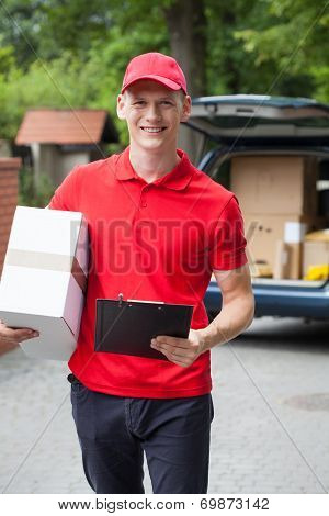 Happy Delivery Man