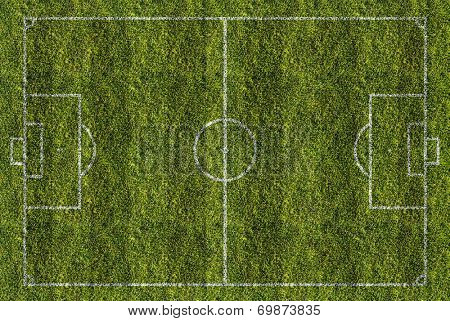 soccer or football filed, top view
