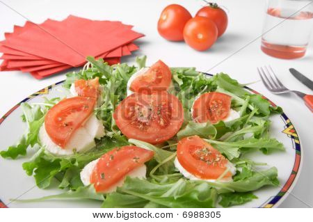 Mozzarella Cheese with tomato