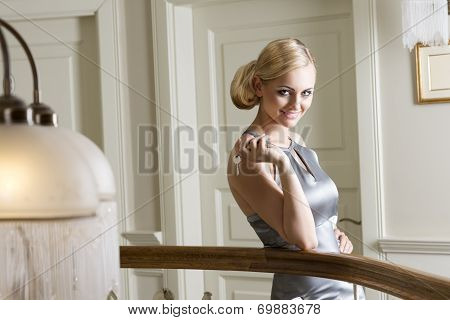 Blond Girl With Hotel Keys