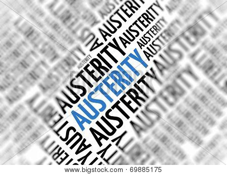 Marketing background - Austerity - blur and focus
