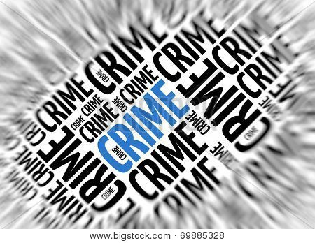 Marketing background - Crime - blur and focus