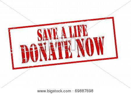 Save A Life Donate Now