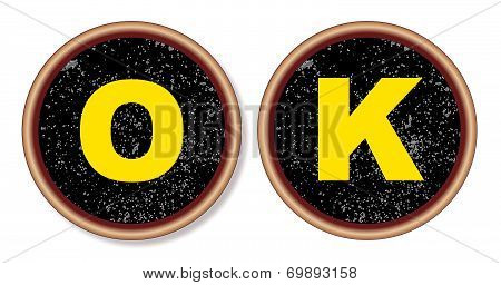 Ok Typewriter Key