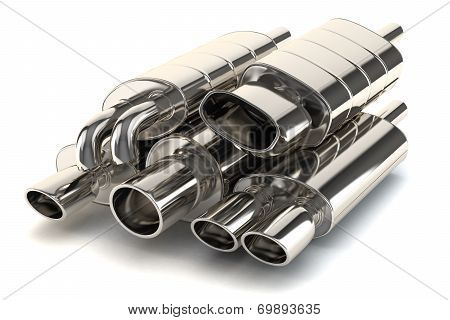 Set Of Exhaust Pipes