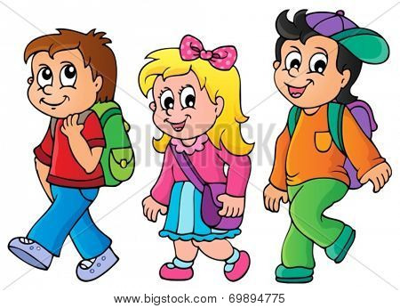 School kids theme image 3 - eps10 vector illustration.