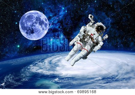 Astronaut Earth Moon Space