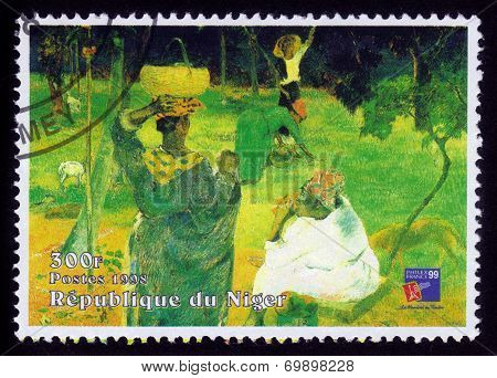 Painting By Paul Gauguin, Fruit Picking Or Among The Mangoes