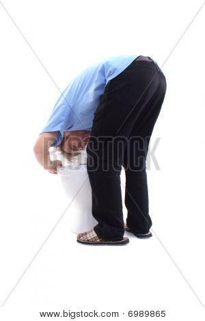 Gagging At Toilet