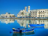 Landscape view of Molfetta touristic port. Apulia. poster