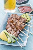 stock photo of pork belly  - Kushiyaki  - JPG