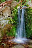 image of crimea  - cascading waterfall in Crimea landscape park Vorontsov Palace  - JPG