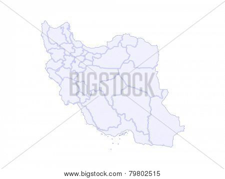 Map of Iran. 3d