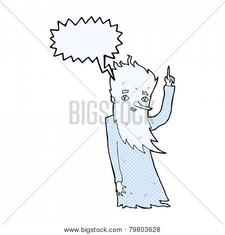 jack frost cartoon with speech bubble